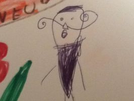 This is how My Cousin draws my dad. .-. by Rosetta-Unknown