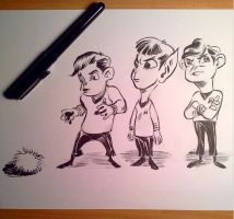 Tribble Trio by zeustoves