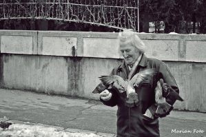Man with Doves by mmariang