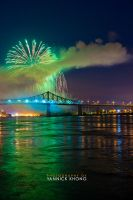 Firework Arc on a Bridge by confucius-zero
