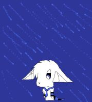 .:Rain is Blue:. by TheCuriousFox
