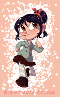 Vanellope Again *Speed Paint* by kiki-kit