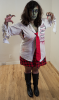 Zombie School Girl 19 by Angelic-Obscura