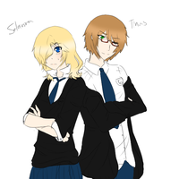 Fem!Solomon and Male!Tina by AskPeterWhite