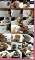 Making my BJD: First Attempt at a Head (WIP) by Lady-Suchiko