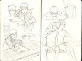 Uzumaki Naruto - Sketches I by Xtwinkle-toesX