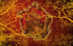HP Wallpaper : Gryffindor Lightning by TheLadyAvatar