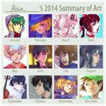 2014 Summary of Art by AlisaTheArtiste