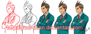 Apollo Justice as a Mentor by yesi-chan