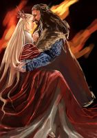 Thorin Oakenshield x Thranduil_I see Fire by Rosalind-WT
