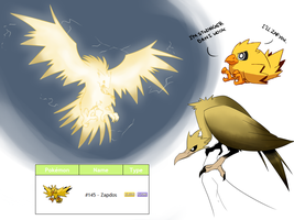 Zapdos pokedesigns by Protocol00
