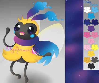 Cosombee ( Cosmog / Ribombee Fusion ) by Nymphrasis