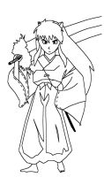 Inuyasha line art by brandon976431
