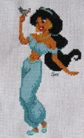Jasmine cross stitch by Santian69