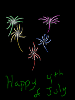 Fireworks of the 4th by damekage