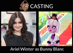 Ariel Winter as Bunny Blanc - EAH Live-Action by ThunderFists1988