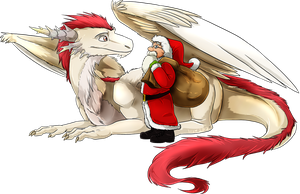 Santa's Dragon by Natsuakai