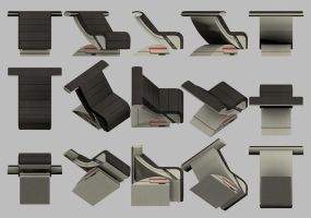 Mass Effect, Chair Recliner Model Reference. by Troodon80