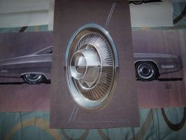1953 Ford hubcap rendering by cadillacstyle