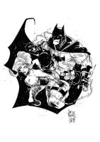 Batman VS Poison Ivy by alessandromicelli