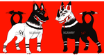 Twin Demon Dogs || OTA Adopts [1 OPEN] by Scawry