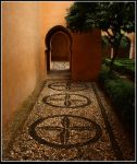 Alhambra, the door by Spain-photography