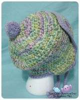 Aviator Ear-Flap Hat - Sugar and Spice 2 by moofestgirl
