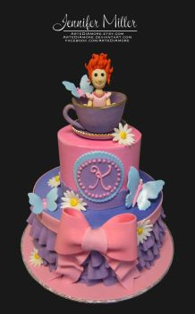 Fancy Nancy Cake by ArteDiAmore