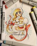 Fionna and Cake - copic markers by Nasuki100