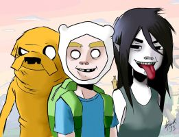 Adventure Time X Gorillaz by delusionofazombie