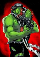 Hulk and She Rhulk by Diablozzo