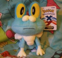 My Froakie Plush by MarioSimpson1