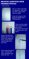 Mini tutorial: Lightning with colored pencils by shadow-inferno