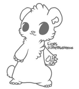 :Free Use Bear Lineart:: by PrePAWSterous
