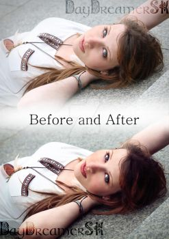 Before and After 'Bright eyes' by DayDreamerSK