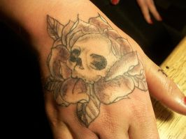 Self Tattooed Hand by KatGore
