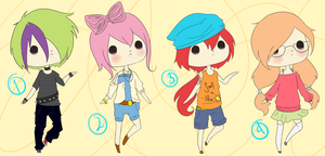 Adoptables -Set 1 CLOSED by gemini-song