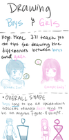 Boy and Girl Drawing Tips by Arcky-Cano