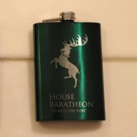Game of Thrones - House Baratheon green flask by Yukizeal