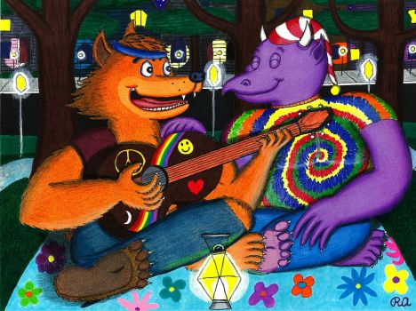 Monster Love Hippies by WalterRingtail