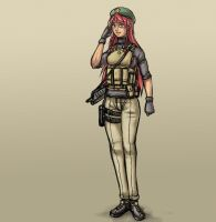 Soldier Meiling by Johanz