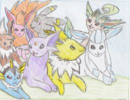 Eevee Evolution by ChihuahuaLover22