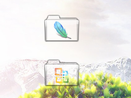 Adobe+MS Office Glass Folders by chuckdobaba