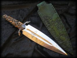 Crow Pine Athame by Fableblades