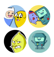 Adventure Time Buttons by EatinIce