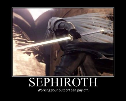 Sephiroth Motivational Poster by sunnyday81