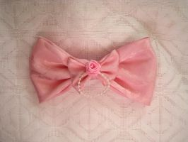 Sweet Pink Himegyaru  Hair Bow by AngelVashir