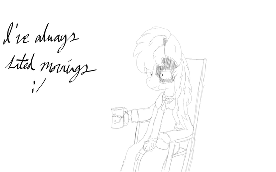 [Sketch] Raincow Hates Mornings by EpicSnivyAble