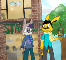 Two Hipsters:Collab by ImagineitSplotched