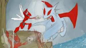 Salamence v Scizor by WrongEnd